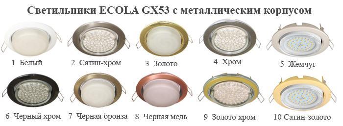 Светильники для потолка Ecola