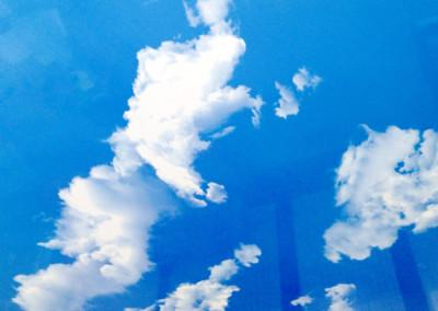 Небо, глянец, сатин