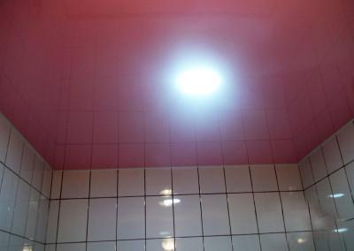 Одноуровневый натяжной потолок 3