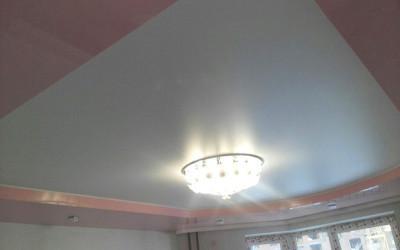 Двухуровневые натяжные потолки (10)