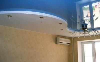 Двухуровневые натяжные потолки - работа Skyline56 в Оренбурге