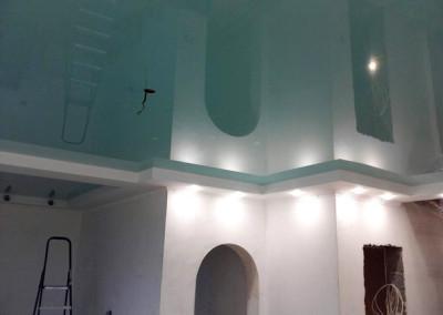 Одноуровневые натяжные потолки (2)