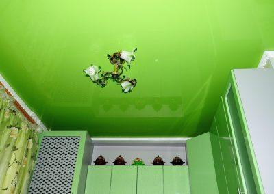 Одноуровневые натяжные потолки (8)