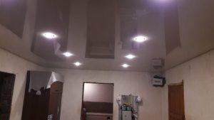 Одноуровневые натяжные потолки — Скай Лайн в Оренбурге (12)