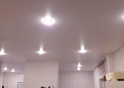 Одноуровневые натяжные потолки - Скай Лайн в Оренбурге (58)
